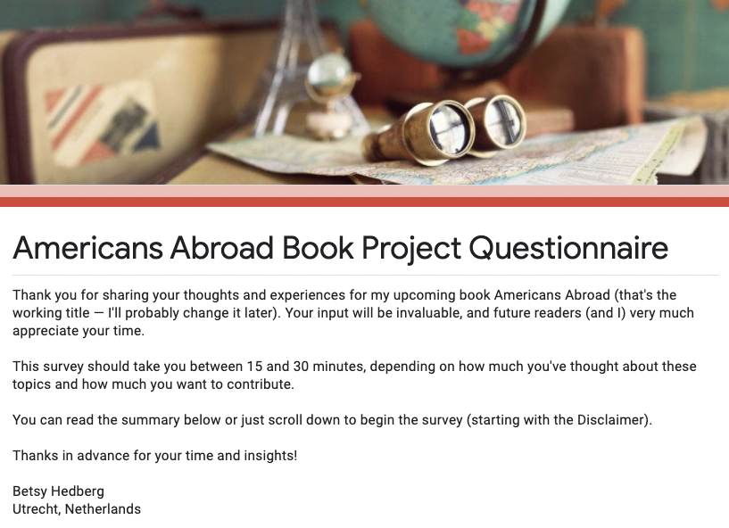 Americans Abroad questionnaire image